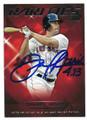 DANIEL NAVA BOSTON RED SOX AUTOGRAPHED BASEBALL CARD #12817F