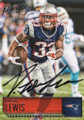 DION LEWIS NEW ENGLAND PATRIOTS AUTOGRAPHED FOOTBALL CARD #20817C