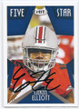 EZEKIEL ELLIOTT OHIO STATE BUCKEYES AUTOGRAPHED ROOKIE FOOTBALL CARD #30917A