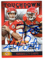 ALEX SMITH & DWAYNE BOWE KANSAS CITY CHIEFS DOUBLE AUTOGRAPHED FOOTBALL CARD #112918A