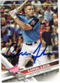 AARON JUDGE NEW YORK YANKEES AUTOGRAPHED BASEBALL CARD #112918C