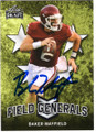 BAKER MAYFIELD OKLAHOMA SOONERS AUTOGRAPHED ROOKIE FOOTBALL CARD #112918E