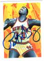 PATRICK EWING NEW YORK KNICKS AUTOGRAPHED BASKETBALL CARD #113018B