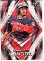 FRANCISCO LINDOR CLEVELAND INDIANS AUTOGRAPHED BASEBALL CARD 113018F