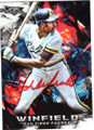 DAVE WINFIELD SAN DIEGO PADRES AUTOGRAPHED BASEBALL CARD #120118C