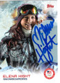 ELENA HIGHT UNITED STATES SNOWBOARDING AUTOGRAPHED OLYMPICS CARD #120118G