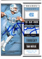 MITCH TRUBISKY NORTH CAROLINA TAR HEELS AUTOGRAPHED FOOTBALL CARD #120218E