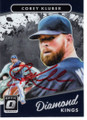 COREY KLUBER CLEVELAND INDIANS AUTOGRAPHED BASEBALL CARD #120318B