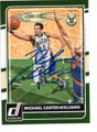 MICHAEL CARTER-WILLIAMS MILWAUKEE BUCKS AUTOGRAPHED BASKETBALL CARD #120318F