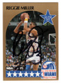 REGGIE MILLER INDIANA PACERS ALL STAR AUTOGRAPHED BASKETBALL CARD #120718A