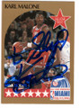 KARL MALONE UTAH JAZZ ALL-STAR AUTOGRAPHED BASKETBALL CARD #120718E