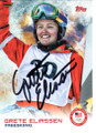 GRETE ELIASSEN USA FREE SKIER AUTOGRAPHED OLYMPICS CARD #120718F