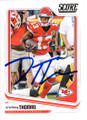 De'ANTHONY THOMAS KANSAS CITY CHIEFS AUTOGRAPHED FOOTBALL CARD #120718H