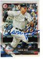 AARON JUDGE NEW YORK YANKEES AUTOGRAPHED BASEBALL CARD #120718J