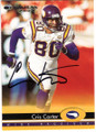 CRIS CARTER MINNESOTA VIKINGS AUTOGRAPHED FOOTBALL CARD #121318C