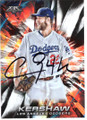 CLAYTON KERSHAW LOS ANGELES DODGERS AUTOGRAPHED BASEBALL CARD #121318E