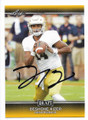 DeSHONE KIZER NOTRE DAME FIGHTING IRISH AUTOGRAPHED ROOKIE FOOTBALL CARD #121718E