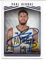 PAUL GEORGE INDIANA PACERS AUTOGRAPHED BASKETBALL CARD #121718DF