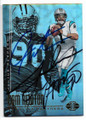 CAM NEWTON & JULIUS PEPPERS CAROLINA PANTHERS DOUBLE AUTOGRAPHED FOOTBALL CARD #121818F