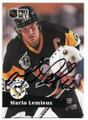 MARIO LEMIEUX PITTSBURGH PENGUINS AUTOGRAPHED HOCKEY CARD #121818H