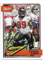 WARREN SAPP TAMPA BAY BUCCANEERS AUTOGRAPHED FOOTBALL CARD #121818J