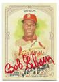 BOB GIBSON ST LOUIS CARDINALS AUTOGRAPHED BASEBALL CARD #121918D