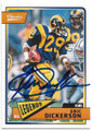 ERIC DICKERSON LOS ANGELES RAMS AUTOGRAPHED FOOTBALL CARD #122218C