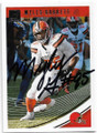 MYLES GARRETT CLEVELAND BROWNS AUTOGRAPHED FOOTBALL CARD #122218i