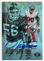 JASON PIERRE-PAUL AND LAWRENCE TAYLOR NEW YORK GIANTS DOUBLE AUTOGRAPHED FOOTBALL CARD #122518A