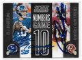 ELI MANNING & ROBERT GRIFFIN III DOUBLE AUTOGRAPHED FOOTBALL CARD #122518B