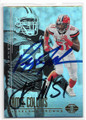 JAMIE COLLINS & PEPPER JOHNSON CLEVELAND BROWNS DOUBLE AUTOGRAPHED FOOTBALL CARD #123018A