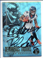 DEMARYIUS THOMAS & ROD SMITH DENVER BRONCOS DOUBLE AUTOGRAPHED FOOTBALL CARD #123018D