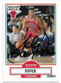SCOTTIE PIPPEN CHICAGO BULLS AUTOGRAPHED BASKETBALL CARD #10119D