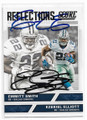 EMMITT SMITH & EZEKIEL ELLIOTT DALLAS COWBOYS DOUBLE AUTOGRAPHED FOOTBALL CARD #10219E