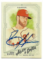 BRYCE HARPER WASHINGTON NATIONALS AUTOGRAPHED BASEBALL CARD #10219F