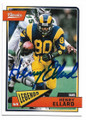 HENRY ELLARD LOS ANGELES RAMS AUTOGRAPHED FOOTBALL CARD #10219H