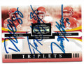 DANTE HALL, TONY GONZALEZ & TRENT GREEN KANSAS CITY CHIEFS TRIPLE AUTOGRAPHED & NUMBERED FOOTBALL CARD #10419B