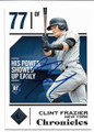 CLINT FRAZIER NEW YORK YANKEES AUTOGRAPHED ROOKIE BASEBALL CARD #10419H