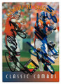 JOHN ELWAY & SHANNON SHARPE DENVER BRONCOS DOUBLE AUTOGRAPHED FOOTBALL CARD #10519B