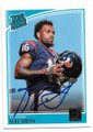 KEKE COUTEE HOUSTON TEXANS AUTOGRAPHED ROOKIE FOOTBALL CARD #10519J
