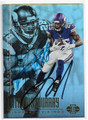 LATAVIUS MURRAY & ADRIAN PETERSON MINNESOTA VIKINGS RUNNING BACKS DOUBLE AUTOGRAPHED FOOTBALL CARD #10619B