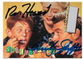 RON HOWARD & ANDY GRIFFITH DOUBLE AUTOGRAPHED CARD #10619C