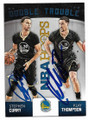 STEPHEN CURRY & KLAY THOMPSON GOLDEN STATE WARRIORS DOUBLE AUTOGRAPHED BASKETBALL CARD #10619E