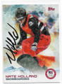 NATE HOLLAND U.S. SNOWBOARDING AUTOGRAPHED OLYMPICS CARD #10619G