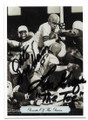 OTTO GRAHAM & LOU GROZA CLEVELAND BROWNS DOUBLE AUTOGRAPHED FOOTBALL CARD #10719D