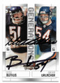 DICK BUTKUS & BRIAN URLACHER CHICAGO BEARS DOUBLE AUTOGRAPHED FOOTBALL CARD #10719G