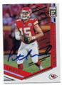 PATRICK MAHOMES II KANSAS CITY CHIEFS AUTOGRAPHED FOOTBALL CARD #10719K