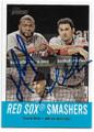 DAVID ORTIZ & ADRIAN GONZALEZ BOSTON RED SOX DOUBLE AUTOGRAPHED BASEBALL CARD #10919A