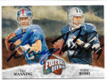 ELI MANNING & TONY ROMO NEW YORK GIANTS & DALLAS COWBOYS DOUBLE AUTOGRAPHED FOOTBALL CARD #10919B