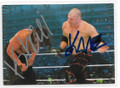THE GREAT KHALI & KANE DOUBLE AUTOGRAPHED WRESTLING CARD #10919D